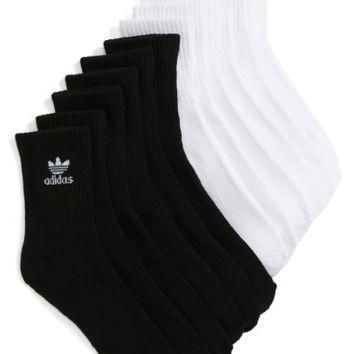 adidas-originals-trefoil-6-pack-quarter-socks-nordstrom number 1