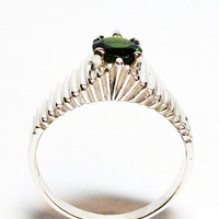 """Chrome diopside, chrome diopside ring, solitaire ring, green jewelry, green, s 9  """"Forever Green"""""""