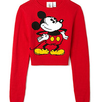 Cropped Mickey Mouse Sweater