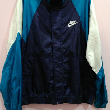 Vintage NIKE Multicolor Windbreaker Lightweight trainer track Nylon Casuals Bomber Jacket hiphop swag size m
