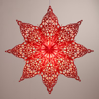 Red Pizelle Star Paper Lantern - World Market