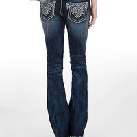Miss Me Feather Stitched Boot Cut Jeans