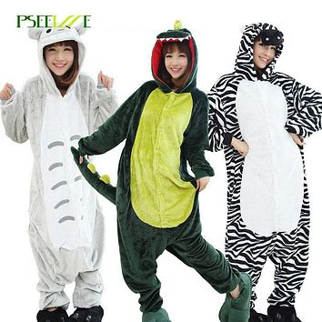 Winter Dinosaur adult unicorn Pajamas For Women Men pajamas Flannel animal pajamas one piece Onesuits for adults Christmas pyjama
