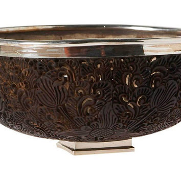 "6"" Coconut Shell & Sterling-Silver Bowl, Decorative Bowls & Centerpieces"