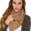 Magnolia Infinity Scarf - Taupe
