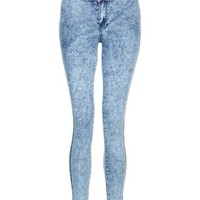 New Look Mobile | Teens Light Blue Acid Wash Skinny Jeans