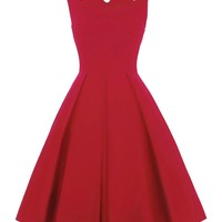 Cut Out Flare Dress