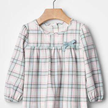 Gap Bow Plaid Shirt