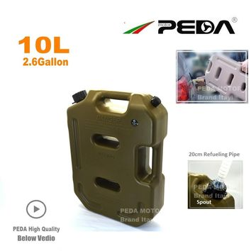 10L Jerry Can Portable fuel tank Plastic gas can ATV Gokart Utv Motorcycle car cans gasoline mount spout refueling container