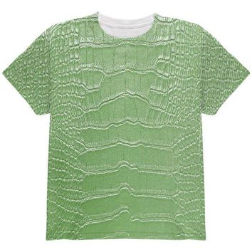 DCCKJY1 Halloween Alligator Costume All Over Youth T Shirt