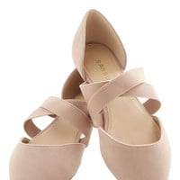 ModCloth Oh Strappy Day Flat in Tan