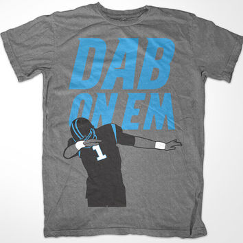 Cam Newton 'Dab On Em' Carolina Panthers T shirt Grey