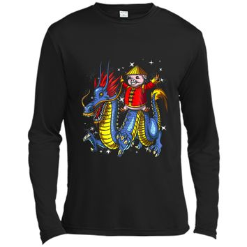 Chinese New Year 2019 Pig Riding Dragon Gift Long Sleeve Moisture Absorbing Shirt