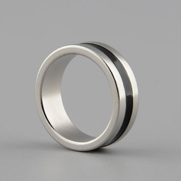 Hot Sale Inner Dia 19mm Size M Strong Magnetic Magic Ring Silver+Black Coin Finger Magician Trick Props Show