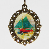 Sail Boat Pendant Necklace