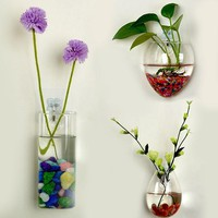 SOLEDI Terrarium Glass Containers Hanging Glass Vase Teraryum Vazen Decoration Flower Vase Glazen Bol Plant Flower Stand