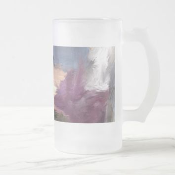 Paint on Glass Frosted Glass Beer Mug