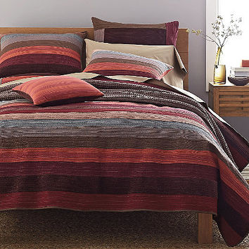 Weston Red Stripe Quilt / Sham