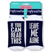 "Simply Southern Socks ""Alone"""