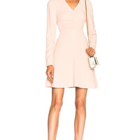 Tibi V Neck Dress in Blush | FWRD
