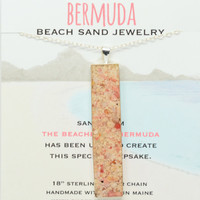 Bermuda Sand Necklace Beach Bar Sand Jewelry Pink Sand Bermuda Vacation Memory Special Keepsakes Gift for Her One of a Kind OOAK