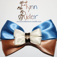 Flynn Rider Hair Bow by MickeyWaffles on Etsy