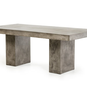 "Echo Industrial Concrete Rectangle 79"" Dining Table with or without Chairs"