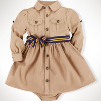 Equestrian Cotton Shirtdress