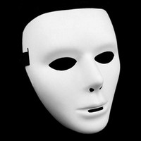 Cosplay Halloween White Mask  unisex costume