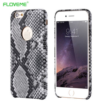 PU Leather Snake Skin Case For iPhone 6 6s
