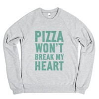 Pizza Won't Break My Heart-Unisex Heather Grey Sweatshirt