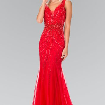 Red pageant dress  Gls 2344