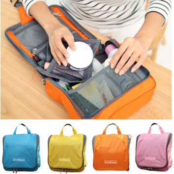 travel accessories cosmetic bag large capacity toilet waterproof make up bathing package hanging pouch storage sorting organizer