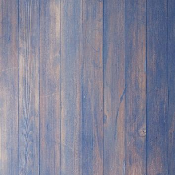 Faded Blue On Brown Wood Floor Backdrop 5x7 - LCCFSL326 - LAST CALL