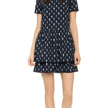 Chinti and Parker Poplin Pineapple Dress