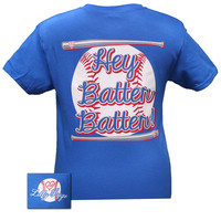 Bjaxx Lilly Paige Preppy Baseball Hey Batter Sports Bright T Shirt