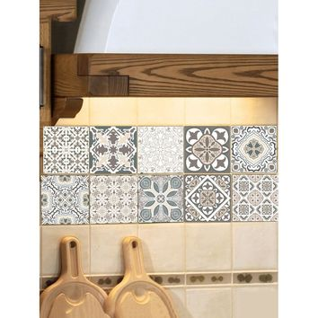 Random Symmetrical Pattern Ceramic Tile Sticker 1pc