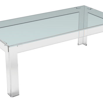 Parsons Coffee Table, Small, Acrylic / Lucite,