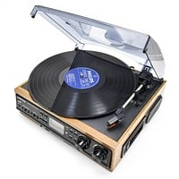 USB Vinyl Record Player Turntable with Built-In Speakers
