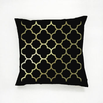 Classic Pattern Pillow, Gold Pattern Pillow, Home Decor, Cushion Cover, Throw Pillow, Bedroom Decor, Modern Pillow, Bed Pillow, Fashion