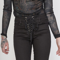 Tripp NYC D-Ring Lace Up Pants