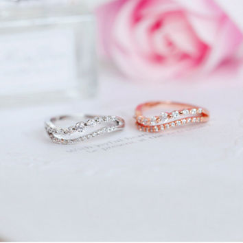 New Arrival Stylish Gift Shiny Jewelry Simple Design Ring [6586343879]