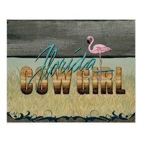 TEE Florida Cowgirl Poster