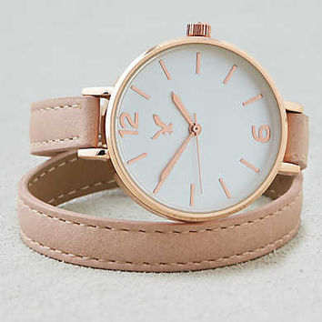 AEO Blush Rosegold Wrap Watch , Blush