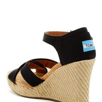 Canvas Strappy Wedge Sandal1