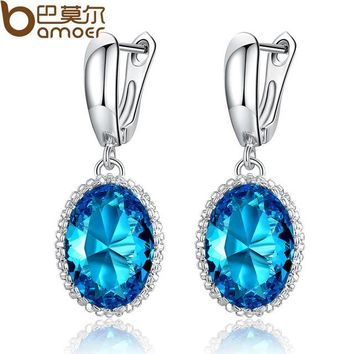Luxury Big Green Stone Drop Earrings for Women Earrings Jewelry Engagement Accessories Gift YIE105-GN