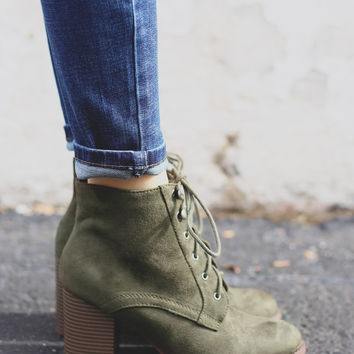 Field Day Booties - Olive