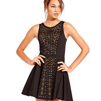 Material Girl Dress, Embellished Fit & Flare Party Dress - Juniors Dresses - Macy's