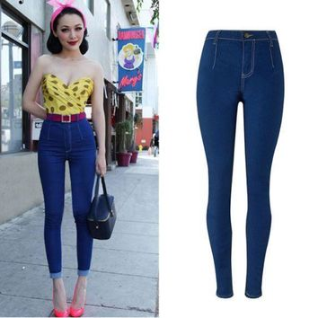ac PEAPON women Candy color slim jeans stretch [9919012300]