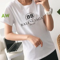 """Balenciaga"" Women's Leisure  Fashion Letter Printing  Short Sleeve  Trousers Two-Piece Casual Wear"